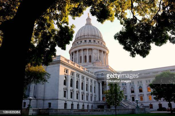 Wisconsin state capitol building in Madison Wisconsin
