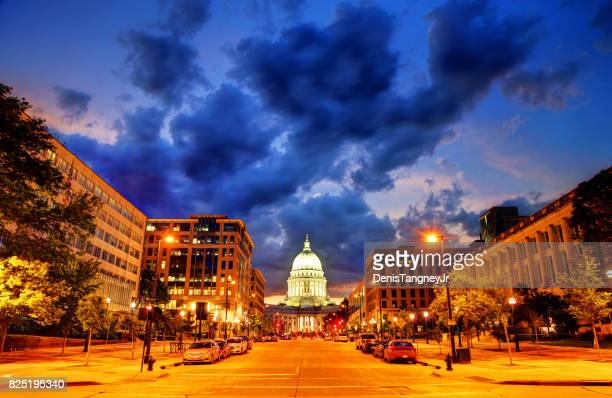 wisconsin state capitol - madison wisconsin stock pictures, royalty-free photos & images