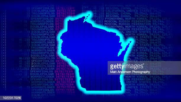 wisconsin - state with malicious code - electoral college stock pictures, royalty-free photos & images
