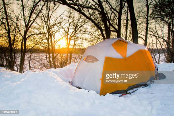 wisconsin winter camping - staadts,_wisconsin stock pictures, royalty-free photos & images