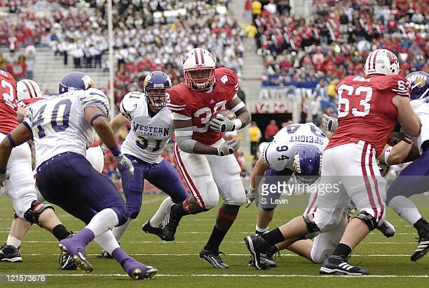 Wisconsin's PJ Hill runs in for a touchdown during the game between the Wisconsin Badgers and the Western Illinois Leathernecks at Camp Randall...