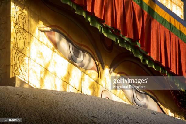 Wisdom eyes at Swayambhunath temple, Kathmandu , Nepal.