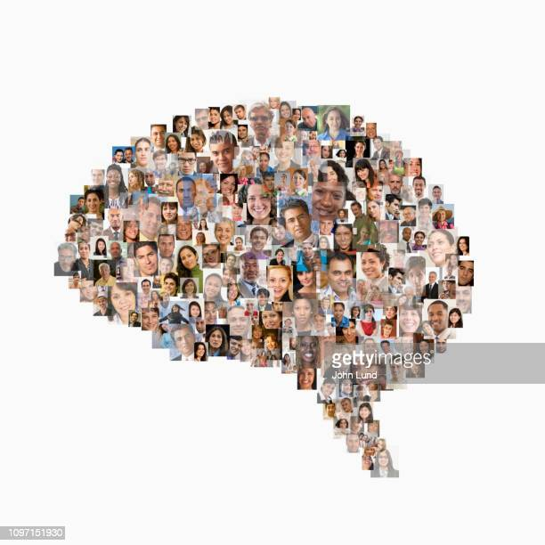 wisdom of the social media crowd - media_(communication) stock pictures, royalty-free photos & images