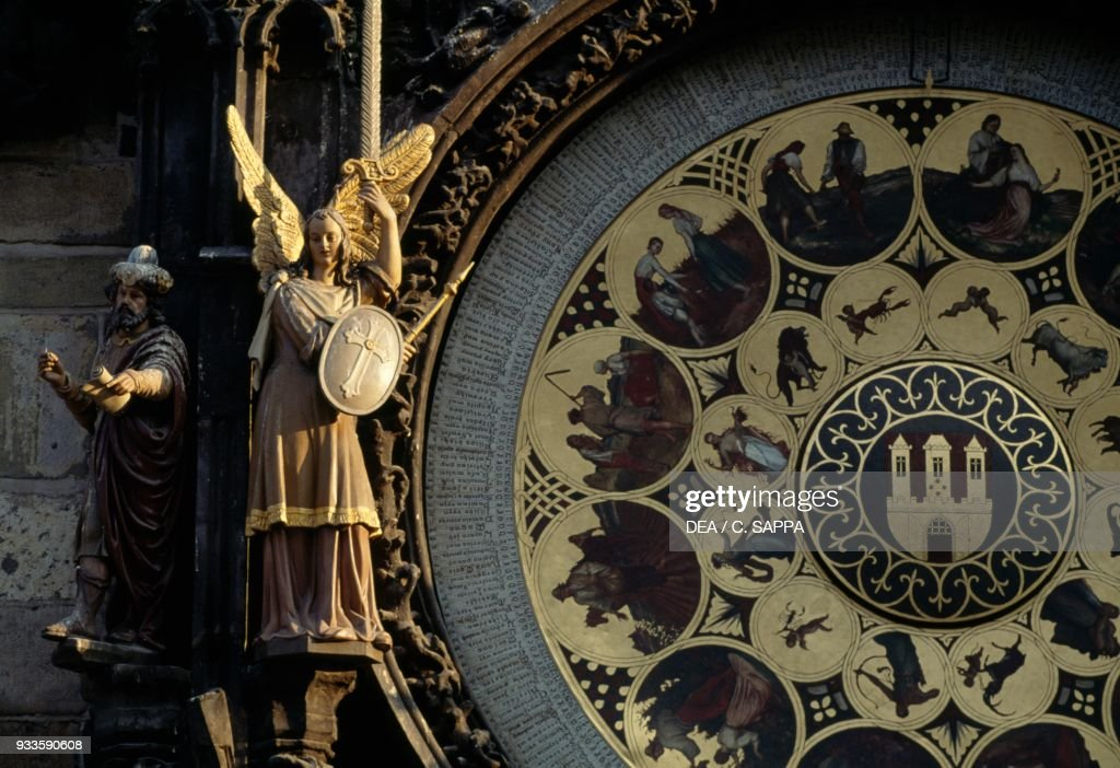Detail Of Astronomical Clock On Town Hall Prague Pictures Getty