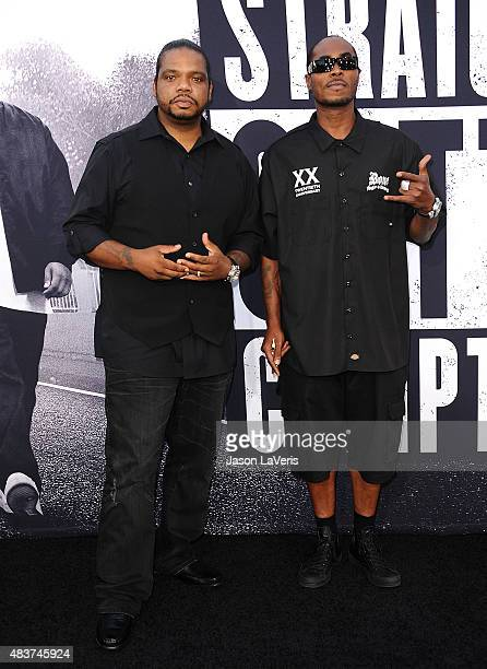Wish Bone and FleshNBone of Bone ThugsnHarmony attends the premiere of Straight Outta Compton at Microsoft Theater on August 10 2015 in Los Angeles...
