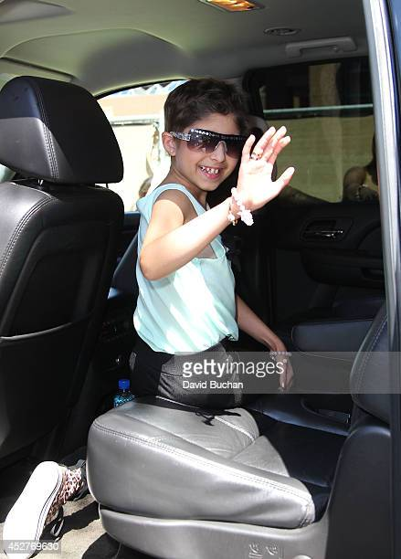 Wish Child Grace seen during her MakeAWish Foundation day at Daniels Jewelers Westfield Culver City Mall on July 26 2014 in Los Angeles CaliforniaÊ