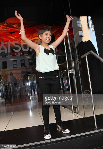 Wish Child Grace seen during her MakeAWish Foundation day at Katsuya Hollywood on July 26 2014 in Los Angeles CaliforniaÊ