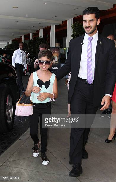 Wish Child Grace seen during her MakeAWish Foundation day at SLS Hotel Hollywood on July 26 2014 in Los Angeles CaliforniaÊ