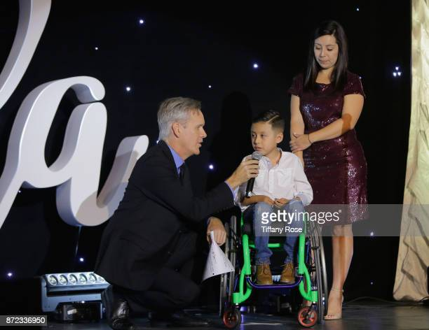 Wish Kid onstage at the 2017 Make a Wish Gala on November 9 2017 in Los Angeles California