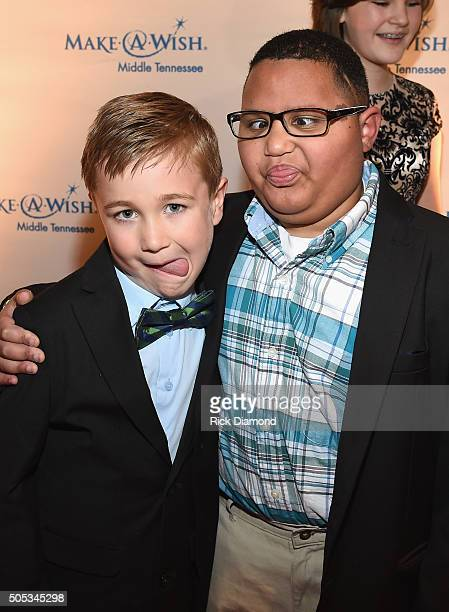Wish Kids Lily Josh and Micah attend the 2016 Make-A-Wish Stars For Wishes at the Gaylord Opryland Hotel on January 16, 2016 in Nashville, Tennessee.