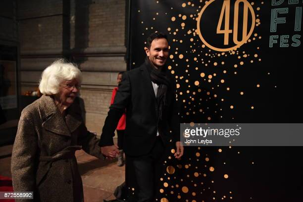 Wish of a Lifetime Founder Jeremy Bloom with his grandmother Donna Wheeler walk the red carpet on November 9 2017 at the Denver Film Festival
