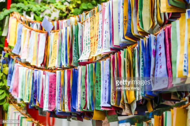 wishes of people - tanabata festival stock pictures, royalty-free photos & images