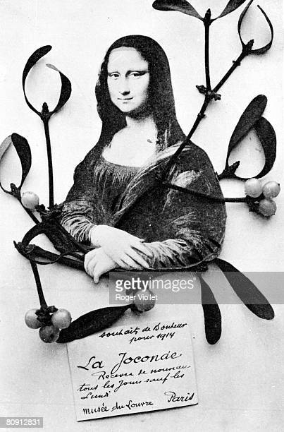 Wishes of the Mona Lisa Caricature on the theft of the picture in 1911 and its wish of return to the museum of the Louvre in 1914