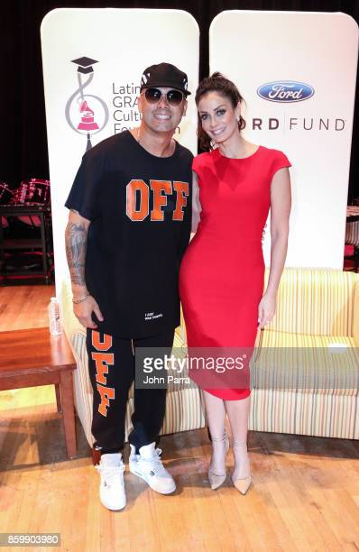 Wisin and Dayanara Torres attend the Latin GRAMMY in the Schools Miami 2017 on October 10 2017 in Miami Florida