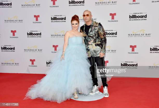 Wisin and guest attend the 2019 Billboard Latin Music Awards at the Mandalay Bay Events Center on April 25 2019 in Las Vegas Nevada