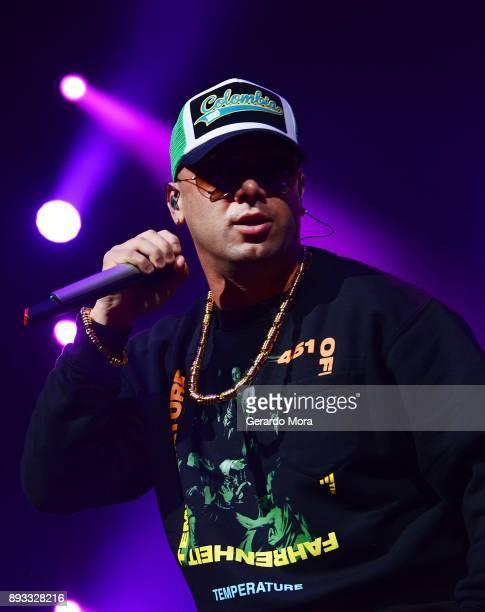 Wisin performs at Amway Center on December 14 2017 in Orlando Florida