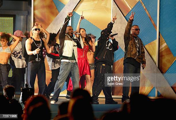 Wisin Y Yandel Hector El Father Ivy Queen perform onstage at the 7th Annual Latin Grammy Awards at Madison Square Garden November 2 2006 in New York...