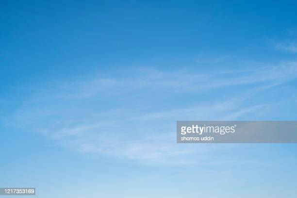 wispy clouds - heaven stock pictures, royalty-free photos & images