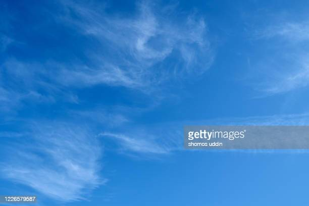 wispy clouds up in the sky - heaven stock pictures, royalty-free photos & images