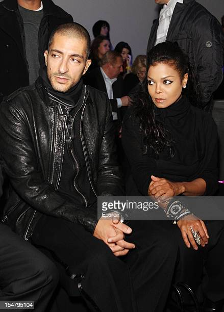 Wissam Al Mana and Janet Jackson attend Kira Plastinina's fashion show on October 25 2012 in Moscow Russia