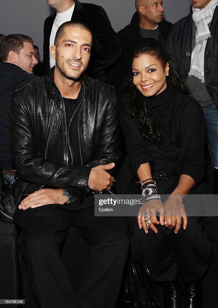 Wissam Al Mana and Janet Jackson attend Kira Plastinina's fashion show on October 25, 2012 in Moscow, Russia.