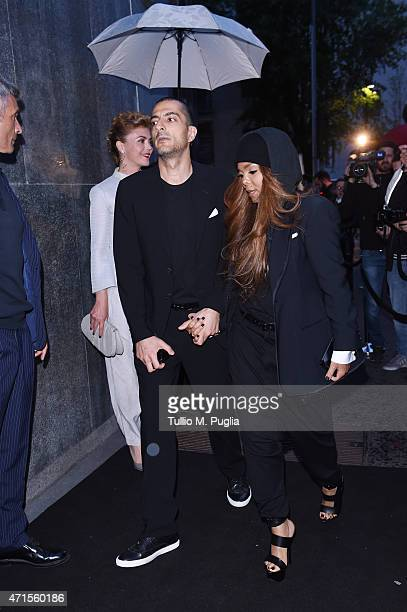 Wissam Al Mana and Janet Jackson attend the Giorgio Armani 40th Anniversary Dinner Reception at Nobu on April 29 2015 in Milan Italy