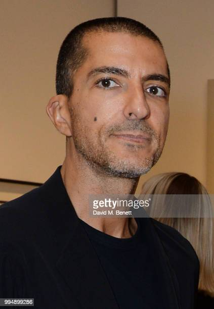 Wissam al Mana attends the Bansky 'Greatest Hits 20022008' exhibition VIP preview at Lazinc on July 9 2018 in London England