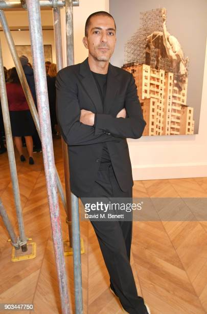 Wissam Al Mana attends the private view of 'JR Giants Body of Work' at Lazinc on January 10 2018 in London England