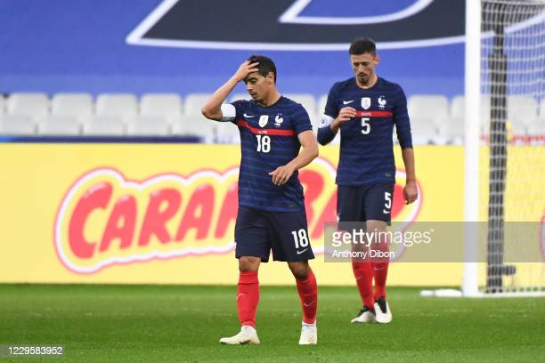Wissam BEN YEDDER of France and Clement LENGLET of France dejected during the international friendly match between France and Finland at Stade de...