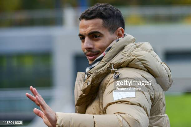 Wissam Ben Yedder of France arrives ahead of a training session on November 11 2019 in Clairefontaine France France will play against Moldova in...