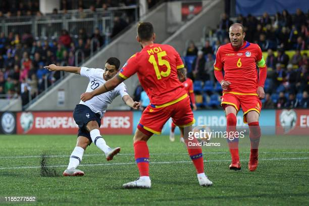 Wissam Ben Yedder of France scores his team's second goal during the UEFA Euro 2020 Qualification match between Andorra and France on June 11 2019 in...