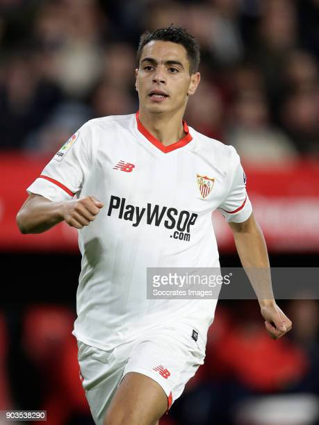 Wissam Ben Yedder of Sevilla FC during the La Liga Santander match between Sevilla v Real Betis Sevilla at the Estadio Ramon Sanchez Pizjuan on...