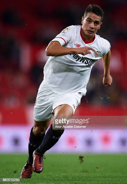 Wissam Ben Yedder of Sevilla FC in action during la Copa del Rey match between Sevilla FC and FC Cartagena at Estadio Ramon Sanchez Pizjuan on...