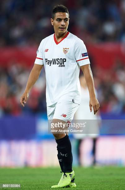 Wissam Ben Yedder of Sevilla FC looks on during the UEFA Champions League group E match between Sevilla FC and Spartak Moskva at Estadio Ramon...