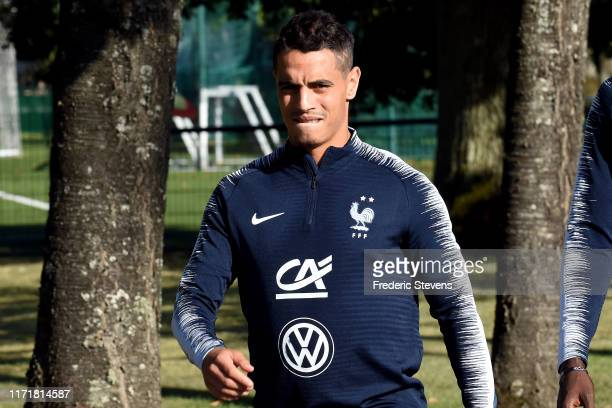 Wissam Benyedder arrives to a training session at the French National Football Centre as part of the preparation to UEFA Euro 2020 on September 02...