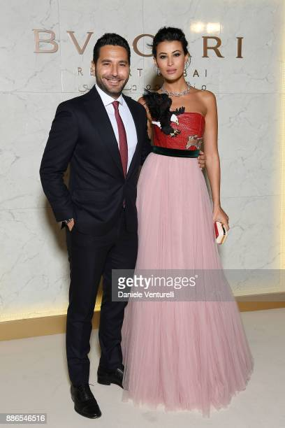 Wissam Breidy and Rym Saidi attend Grand Opening Bulgari Dubai Resort on December 5, 2017 in Dubai, United Arab Emirates.