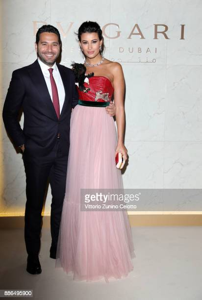 Wissam Breidy and Rym Saidi attend the Grand Opening of Bulgari Dubai Resort on December 5, 2017 in Dubai, United Arab Emirates.