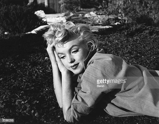 Wistful Marilyn Monroe .