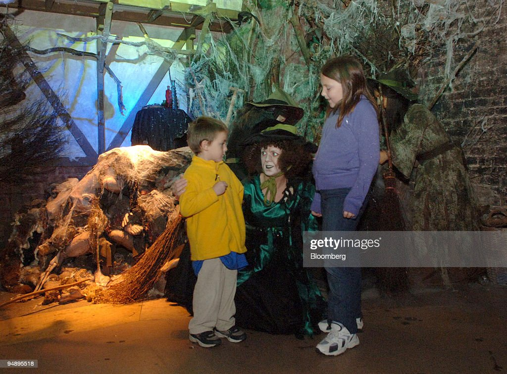 c0bcba40c8d Witch Adele Cameron, center, explains the meaning of Halloween to ...