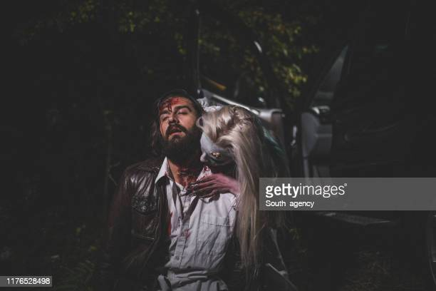 witch attacked a man - horrible car accidents stock pictures, royalty-free photos & images