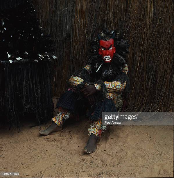 Witch doctor from a village near Bulawayo in Matabeleland, Rhodesia .