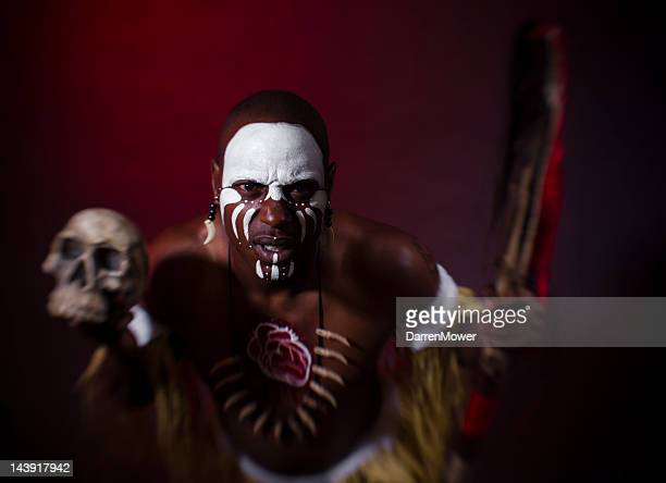 witch doctor - african witch doctor stock photos and pictures