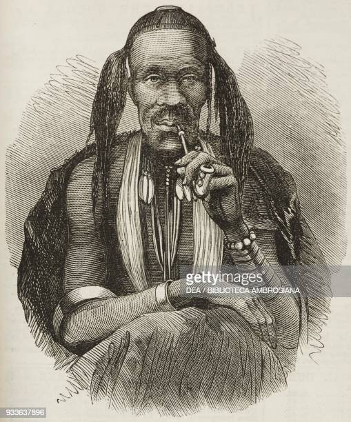 Witch doctor South Africa illustration from the magazine The Illustrated London News volume XLV December 10 1864