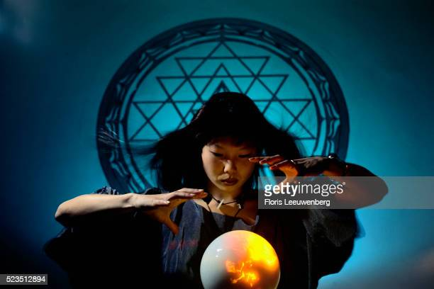 Witch Using Crystal Ball