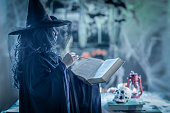 Witch With Magic Book