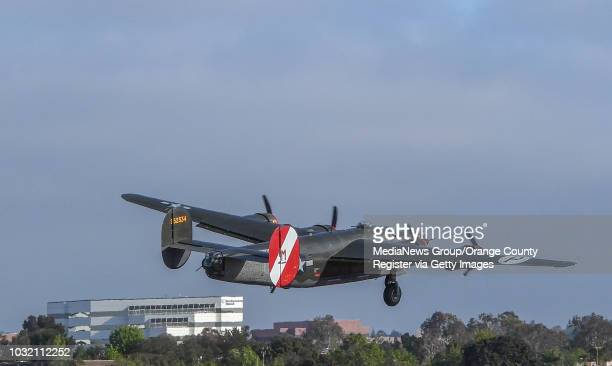 Witchcraft a B24 Liberator takes off from John Wayne Airport in Santa Ana California on Friday May 12 2017
