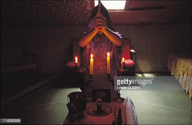 Witchcraft in France the new sorcerer's apprentices In France In 2001Ritual in a magic circle circumscribed with a length of cotton string the...