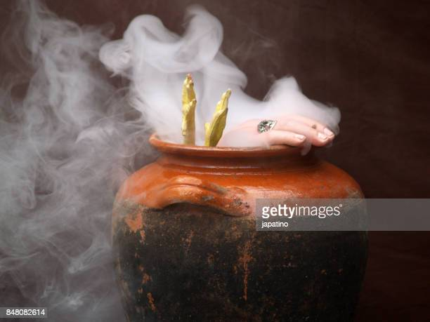 witchcraft - potion stock photos and pictures