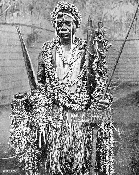 A witchdoctor Uganda Africa 1936 From Peoples of the World in Pictures edited by Harold Wheeler published by Odhams Press Ltd