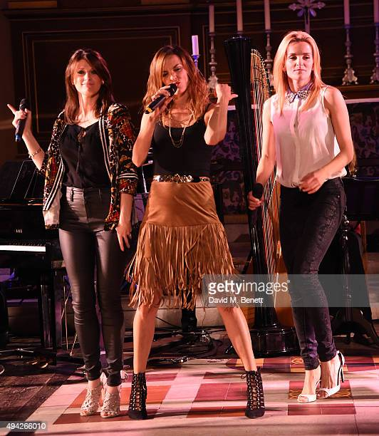 B*witched attend the 'A Song For Syria' charity gala at St Paul's Church Covent Garden on October 25 2015 in London England